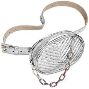 Steve Madden Quilted Oil Slick Fanny Pack Belt Bag